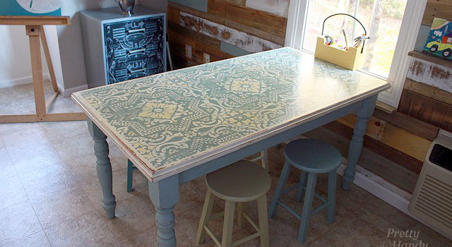 Beautiful Stencilled Table