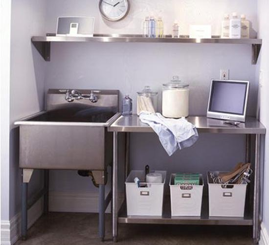 Laundry Room Stainless Steel Sink : ... Room-With-Minimalist-And-Smart-Ideas-Laundry-Room-Ideas-For-Small