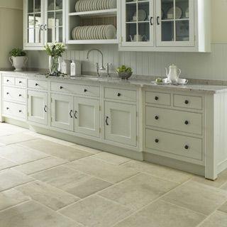 8. Limestone floor