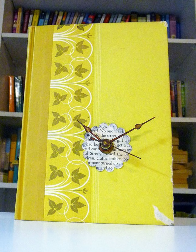 Recycled Book Clock