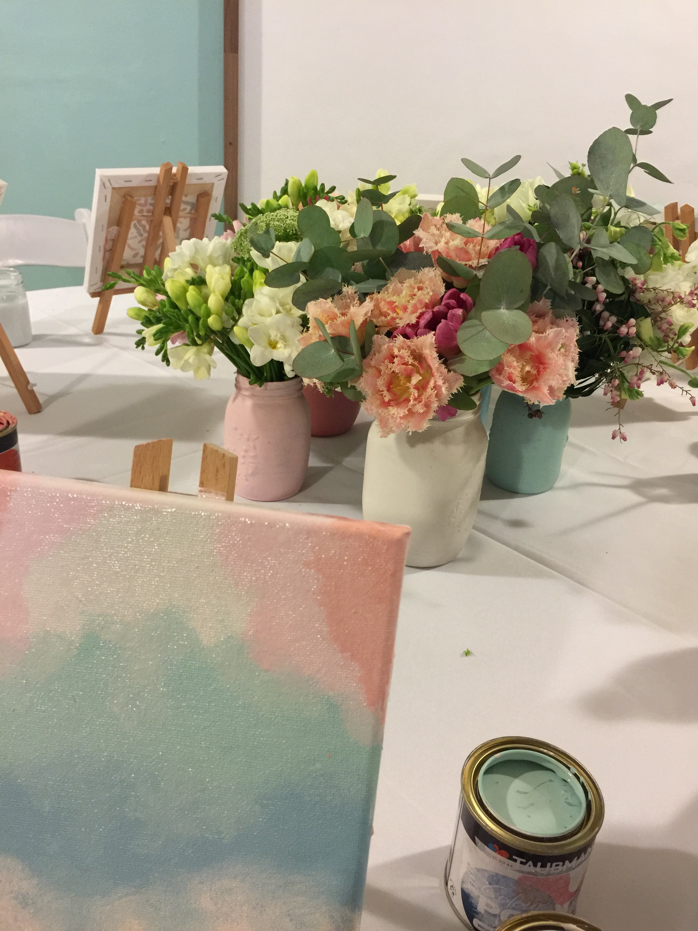 Painting at Taubmans Spring colour launch
