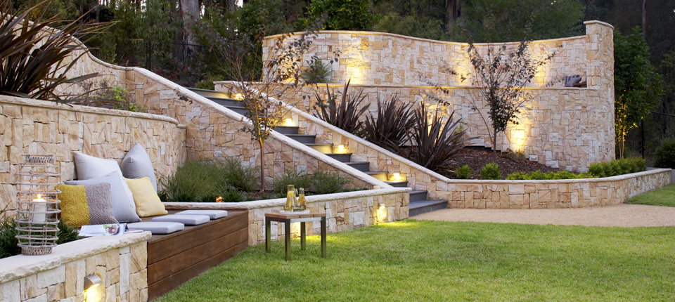 sloping backyard