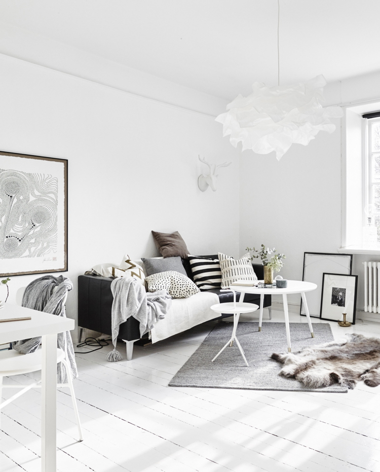 Lots of soft white to add some light into a dark space