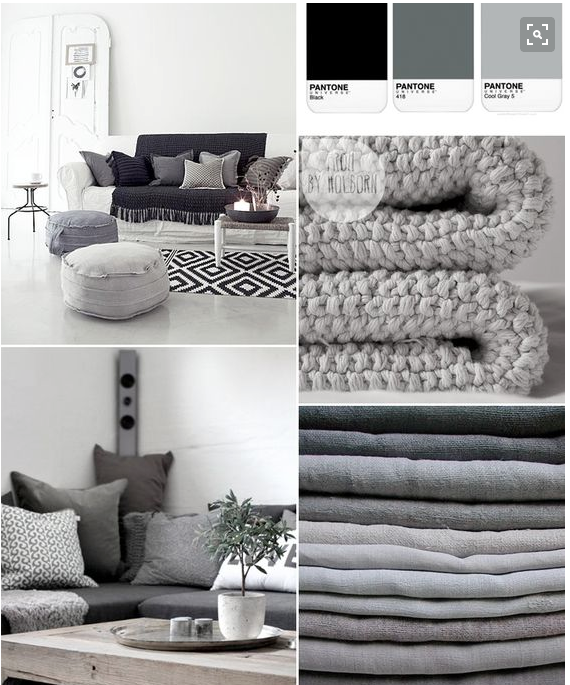 I love grey & white and lots of texture